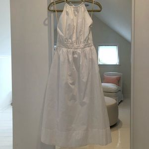 Aritzia wildfired white long halter dress